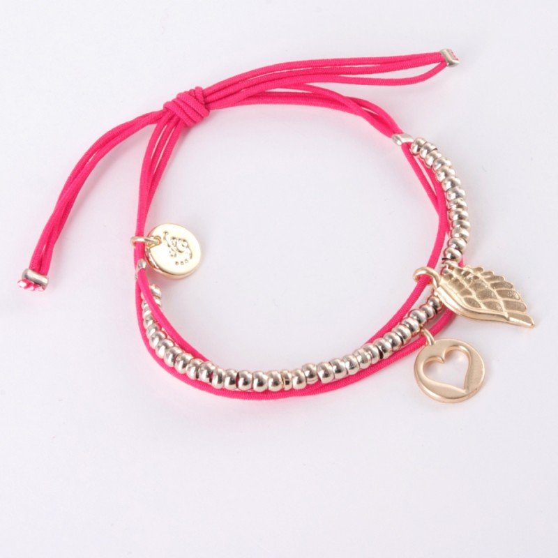 Ellie Elasticated Charm Bracelet - Gold Charms
