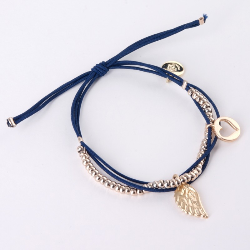 Ellie Elasticated Charm Bracelet - Gold Charms
