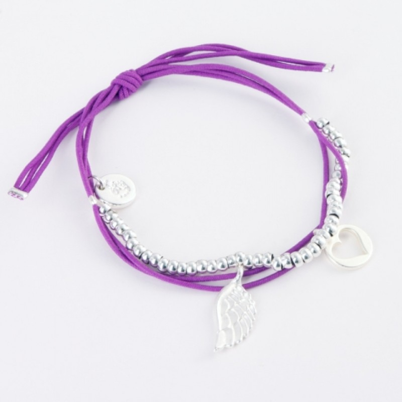 Ellie Elasticated Charm Bracelet - Silver Charms