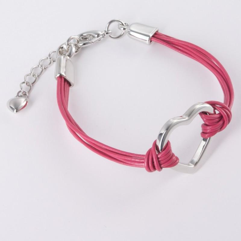 India Leather Heart Bracelet