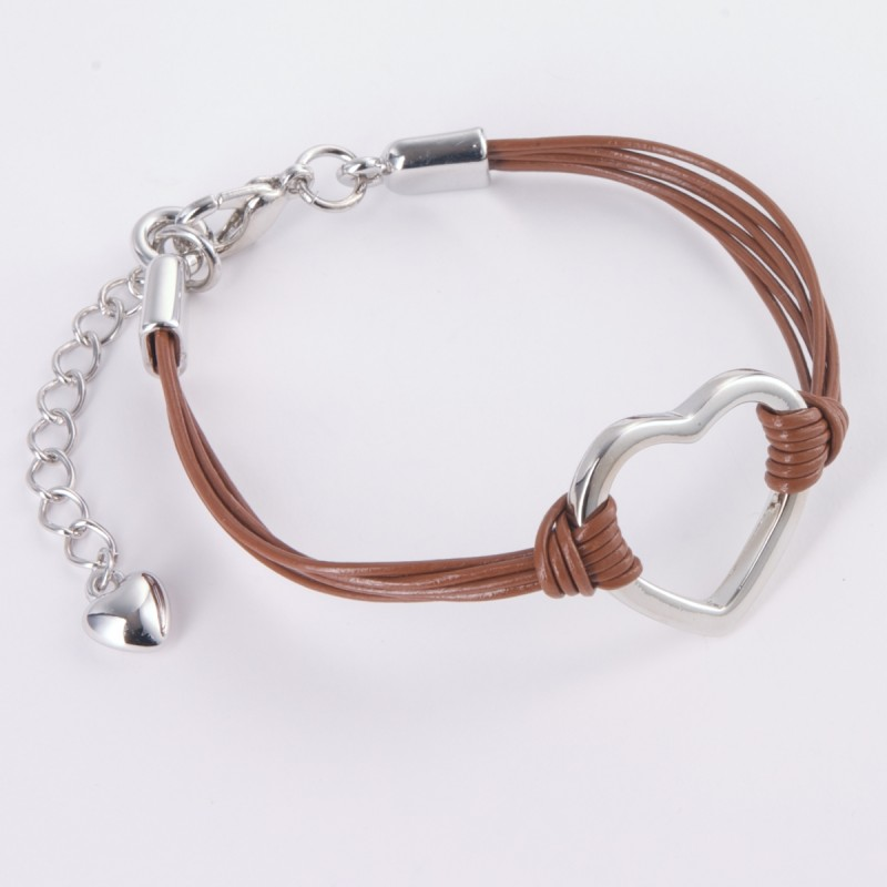 India Leather Heart Bracelet