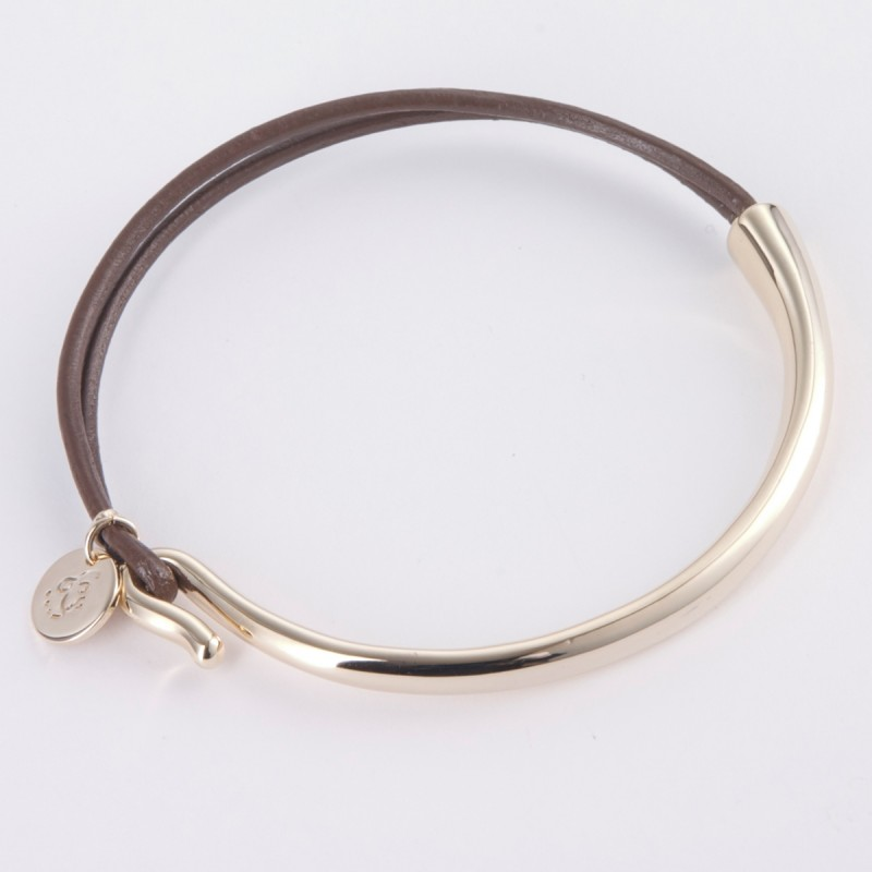 Lily Leather and Silver Bracelet