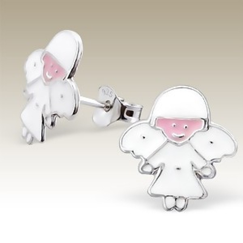 Kids Angel Stud Earrings