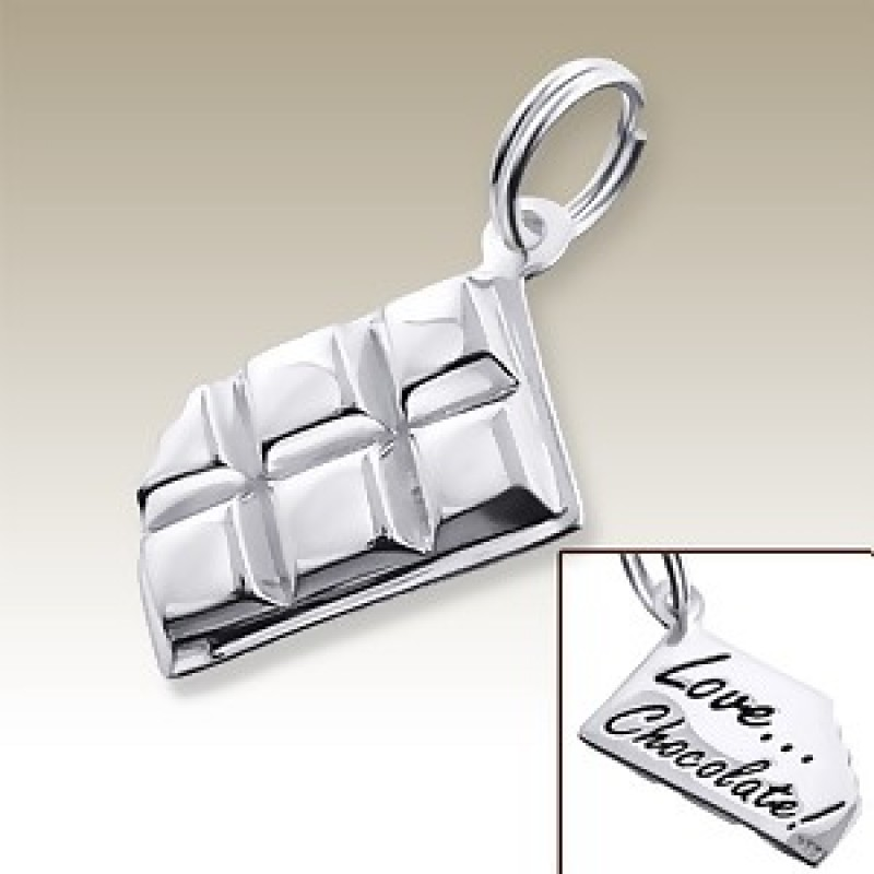 Sterling Silver Chocolate Bar Charm