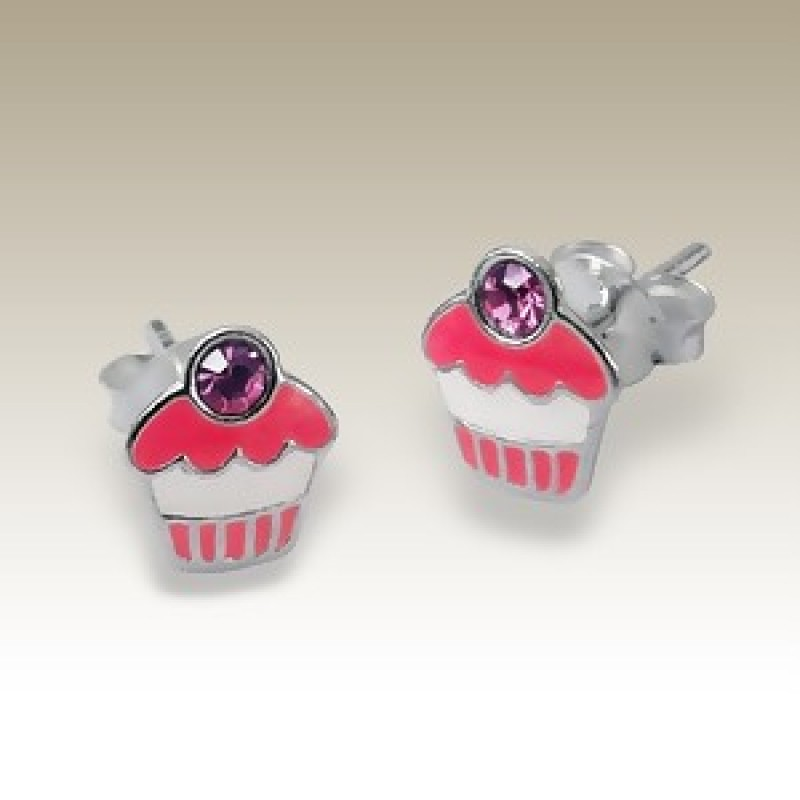 Kids Cupcake Stud Earrings