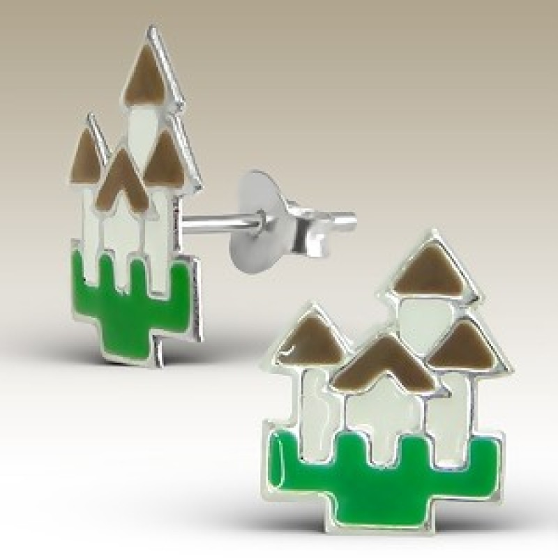 Kids Castle Stud Earrings