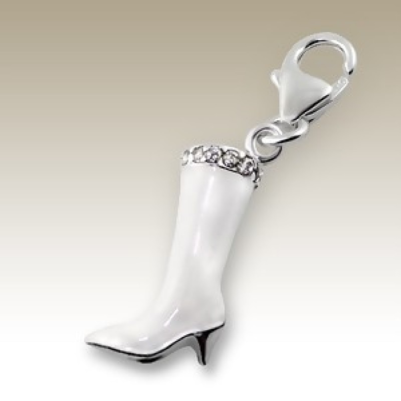 Sterling Silver 3D Boot Charm